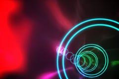 Spirale colorée avec la lueur rouge Photographie stock libre de droits