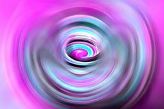 Spirale colorée avec le mouvement dynamique photographie stock libre de droits