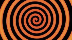 Spirale colorée dans le mouvement prêt pour l'hypnose illustration de vecteur