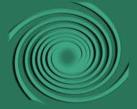Spirale con i cerchi di rotolamento Immagine Stock