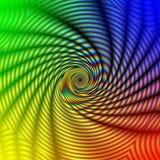 spirale concentrique abstraite d'arc-en-ciel illustration de vecteur