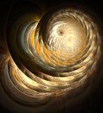 Spirale d'or Photos libres de droits