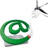 Spirale d'anti-moustique d'amusement illustration de vecteur