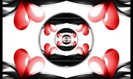 Spirale de coeurs d'infini. Photographie stock libre de droits