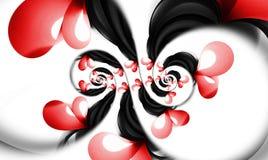 Spirale de coeurs d'infini. Images stock