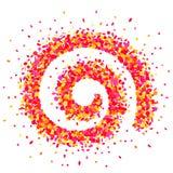 Spirale de confettis dans le rose Image libre de droits