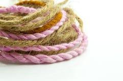Spirale de corde de chanvre Photographie stock libre de droits