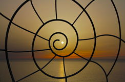 Spirale de coucher du soleil Photo stock