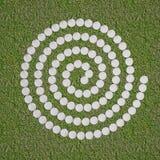 Spirale de la pierre blanche Illustration Stock