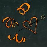 Spirale de peau d'orange Croquis tiré par la main réaliste de style de griffonnage Illustration de vecteur d'isolement sur un tab Photo stock