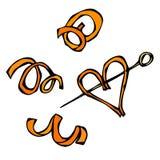 Spirale de peau d'orange Illustration de vecteur d'isolement sur un fond blanc Croquis tiré par la main réaliste de style de grif Photos libres de droits
