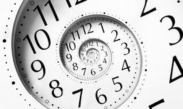 Spirale de temps d'infini Images libres de droits