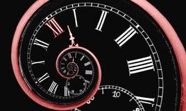 Spirale de temps d'infini Images stock