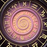 Spirale de zodiaque Photographie stock