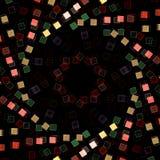 Spirale dei quadrati rossi, bianchi e verdi fotografia stock