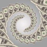 Spirale dei soldi di flusso di denaro Fotografia Stock Libera da Diritti