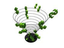 Spirale del dollaro royalty illustrazione gratis