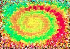 Spirale del fiore Fotografia Stock