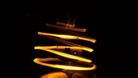 Spirale del fuoco Fotografie Stock