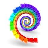 Spirale del Rainbow Fotografia Stock