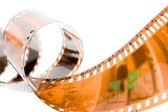 Spirale della striscia della pellicola Fotografie Stock