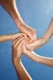 spirale delle mani Immagini Stock Libere da Diritti