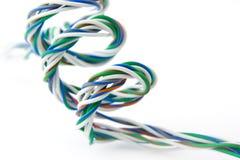 Spirale der farbigen Drähte Stockfotos