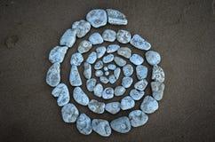 Spirale des cailloux texturisés Photos libres de droits