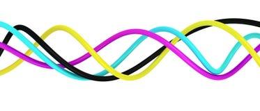 Spirale di CMYK Fotografie Stock Libere da Diritti