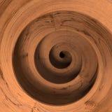 Spirale di legno fotografie stock