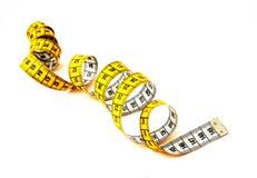 Spirale di misurazione del nastro Immagini Stock