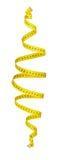 Spirale di misurazione del nastro nell'aria Immagini Stock Libere da Diritti