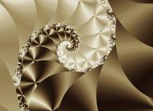 Spirale di seta Fotografia Stock