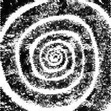 Spirale di vettore Fondo di lerciume su fondo bianco Patina, graffi Immagini Stock