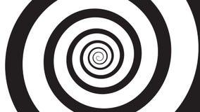 Spirale di visualizzazione di ipnosi video d archivio