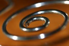 Spirale en métal Photographie stock libre de droits