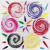 Spirale et formes colorées Photos stock