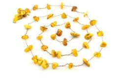 Spirale faite en ambre et à chaînes rugueux Photographie stock