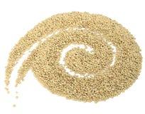 Spirale fatta delle lenticchie Fotografie Stock