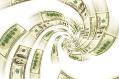 Spirale finanziaria. Fotografie Stock Libere da Diritti