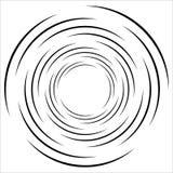 Spirale geometrica astratta, elemento dell'ondulazione con la circolare, concent illustrazione di stock