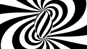 Spirale hypnotique Hypnose noire et blanche illustration libre de droits