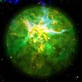 Spirale infinie dans l'espace extra-atmosphérique Carina Nebula | Fractale Art Background Wallpaper With Elements de la NASA/d'ES photos stock
