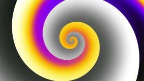 Spirale infinita Metraggio senza cuciture del ciclo stock footage
