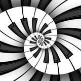 Spirale jumelle du clavier 3D Image stock