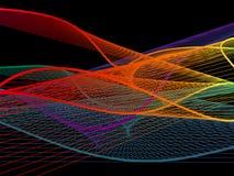 Spirale linéaire dynamique et lumineuse avec le gradient coloré Photos stock