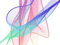 Spirale linéaire dynamique et lumineuse avec le gradient coloré Images libres de droits