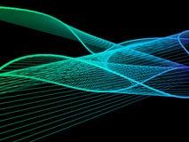Spirale linéaire dynamique et lumineuse avec le gradient coloré Photographie stock