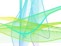Spirale linéaire dynamique et lumineuse avec le gradient coloré Photographie stock libre de droits