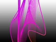 Spirale linéaire dynamique et lumineuse avec le gradient coloré Photo stock